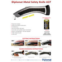 A37 Heavy Duty Metal Safety Knife