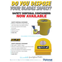 A42 & DC-2 Blade Disposal Containers